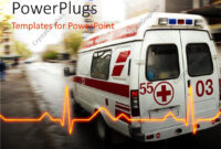Powerpoint Template: An Ambulance With A Heartbeat Line And intended for Ambulance Powerpoint Template