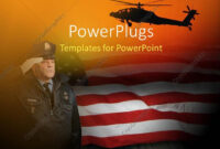 Powerpoint Template: An American Soldier Saluting With in Raf Powerpoint Template
