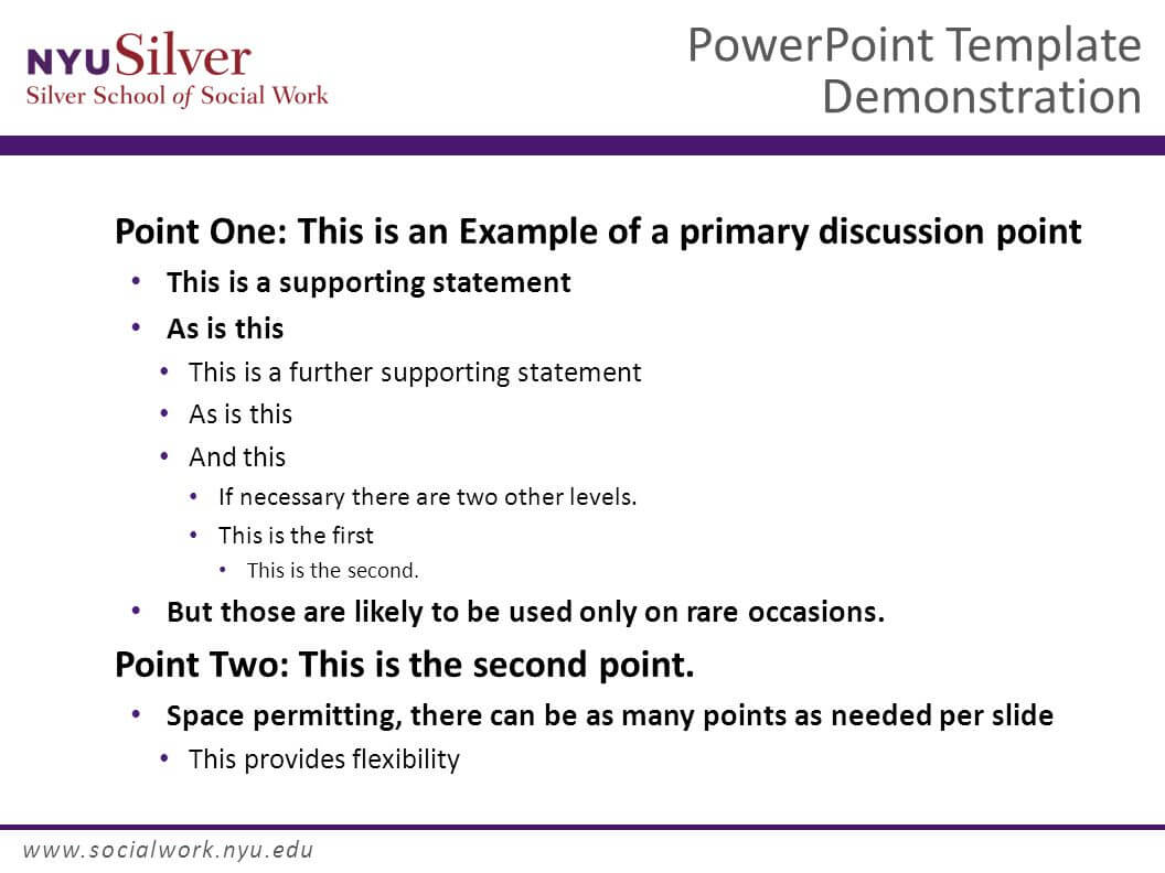 Powerpoint Template Demonstration Dr. John Smith Nyu Silver within Nyu Powerpoint Template