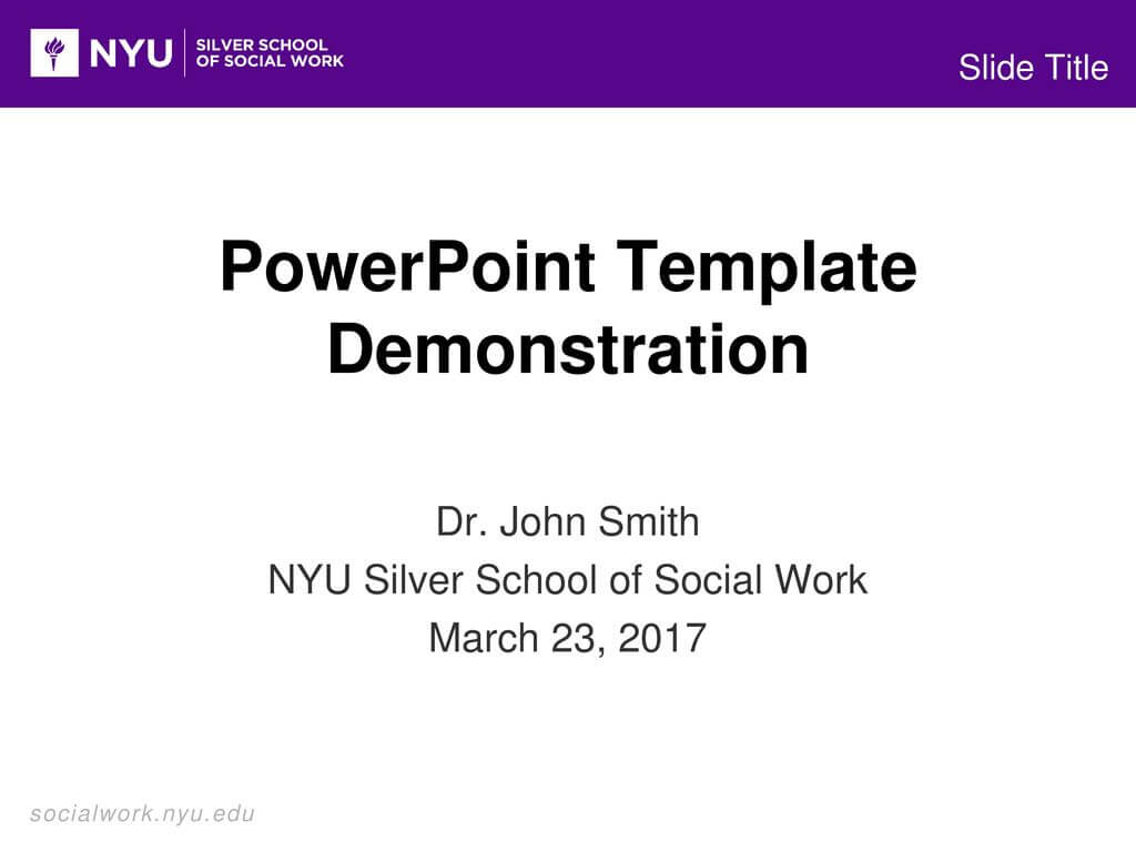 Powerpoint Template Demonstration - Ppt Download within Nyu Powerpoint Template