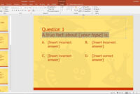 Powerpoint Template For A Multiple Choice Quiz for Powerpoint Quiz Template Free Download