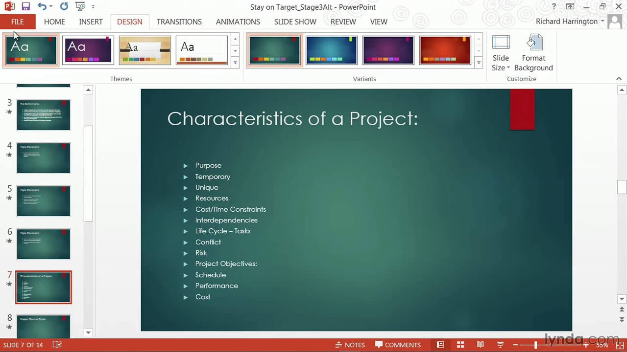 Powerpoint Tutorial: How To Change Templates And Themes | Lynda Throughout How To Change Powerpoint Template
