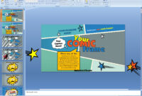 Powerpoint: Your Comic Frame Presentation Template inside Comic Powerpoint Template