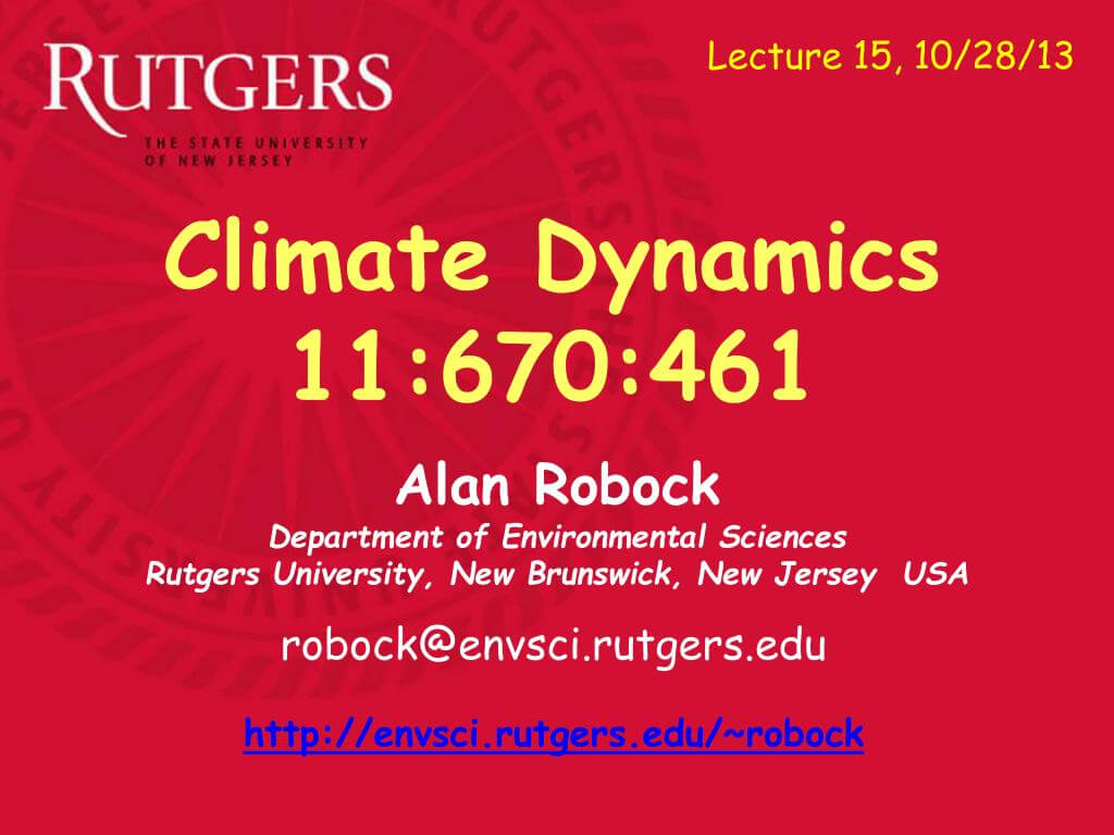 Ppt – Alan Robock Department Of Environmental Sciences With Regard To Rutgers Powerpoint Template