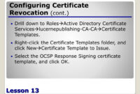 Ppt – Configuring Active Directory Certificate Services within Active Directory Certificate Templates