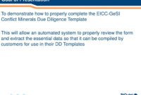 Ppt – How To Complete The Eicc-Gesi Conflict Minerals Due inside Eicc Conflict Minerals Reporting Template