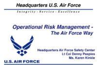 Ppt – Operational Risk Management – The Air Force Way throughout Air Force Powerpoint Template