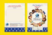 Pre-Nursery Report Card On Behance   Report Card Ideas pertaining to Boyfriend Report Card Template