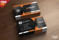 Premium Business Card Templates Free Psd – Psd Zone Regarding Free Psd Visiting Card Templates Download