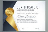 Premium Certificate Of Appreciation Award Design regarding Award Certificate Design Template