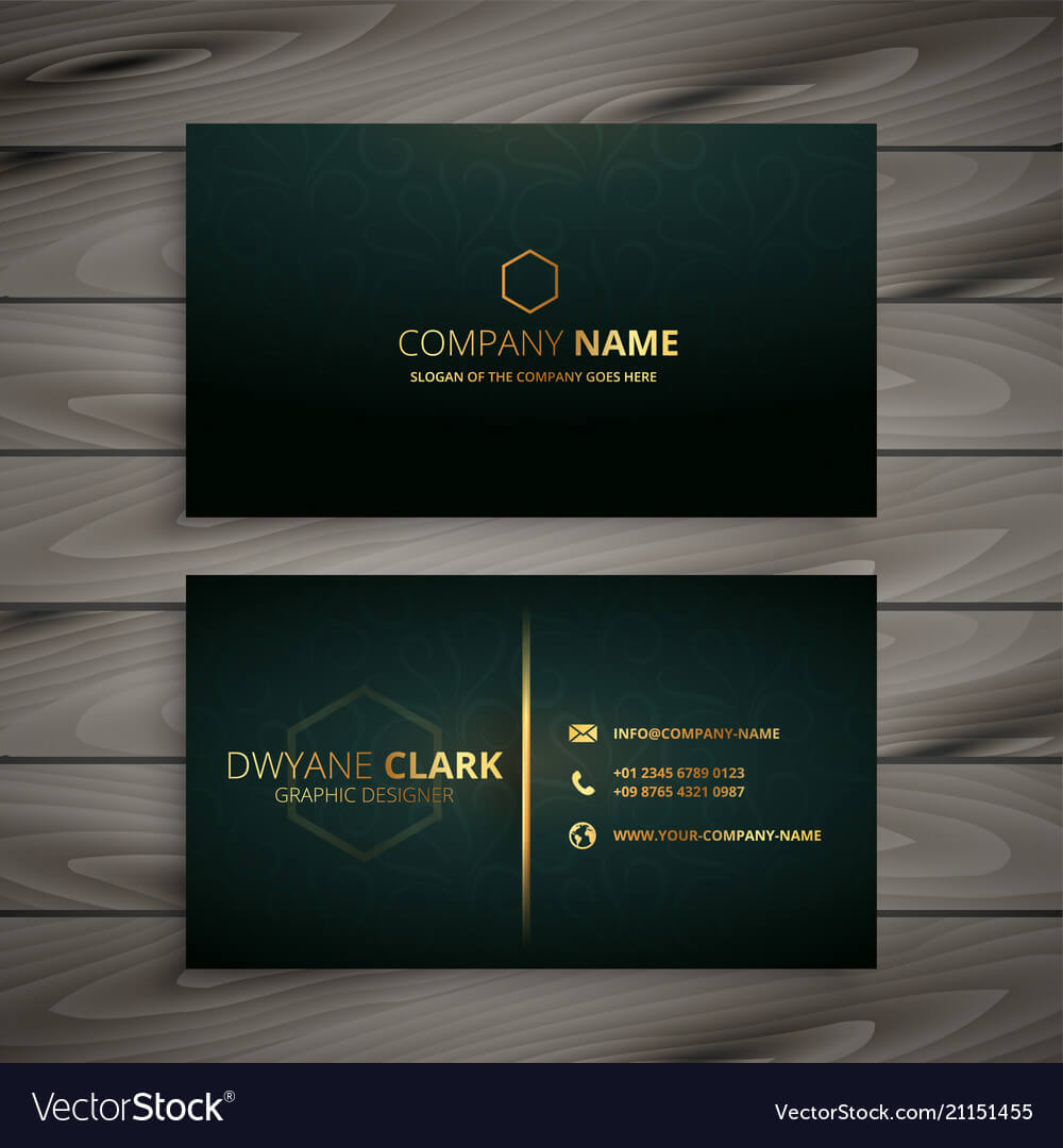 Premium Elegant Business Card Template intended for Buisness Card Template