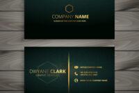 Premium Elegant Business Card Template with regard to Free Bussiness Card Template