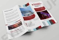 Premium Hotel Salesman Tri-Fold Brochure Template within Hotel Brochure Design Templates