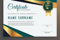 Premium Modern Certificate Template Design inside Design A Certificate Template