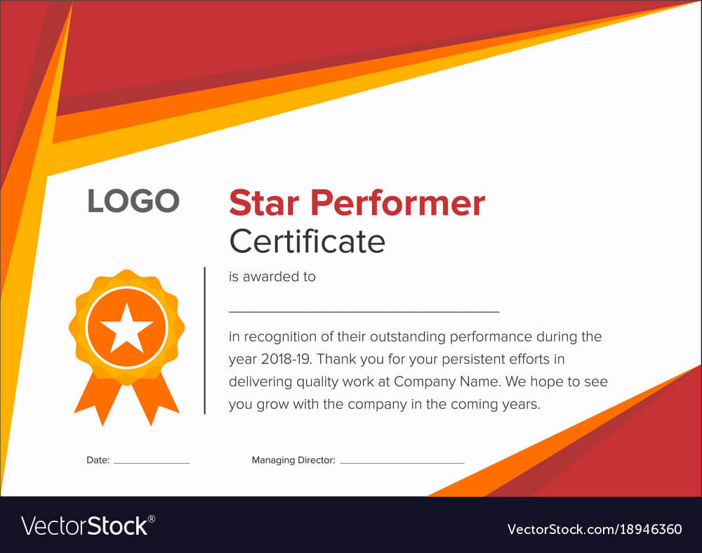 Premium Star Performer Certificate Templates Powerpoint In Star Performer Certificate Templates