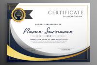 Premium Wavy Certificate Template Design | Certificate with Award Certificate Design Template
