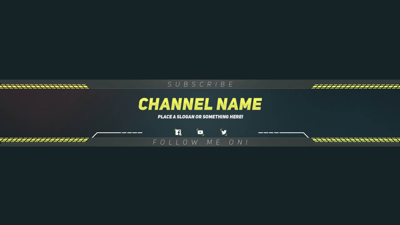 Premium Youtube Banner Template - Photoshop Template within Yt Banner Template