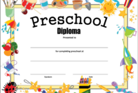 Preschool Diploma Certificate – How To Make A Preschool inside Preschool Graduation Certificate Template Free