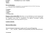 Preschool Evaluation Report Template inside Deviation Report Template