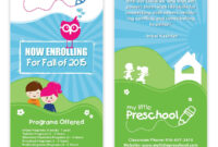 Preschool Flyer Template 06 | Chakra Posters, Flyers regarding Daycare Brochure Template