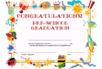 Preschool Graduation Certificate Template Free | Graduation inside Certificate Templates For School