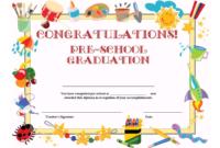 Preschool Graduation Certificate Template Free in 5Th Grade Graduation Certificate Template