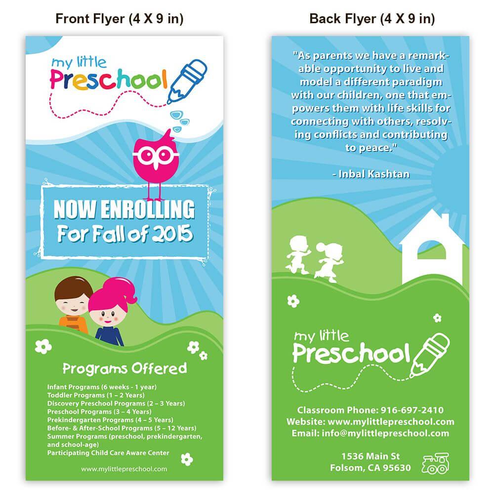 Preschool Poster Template Design | Playschool | Starting A Regarding Daycare Brochure Template