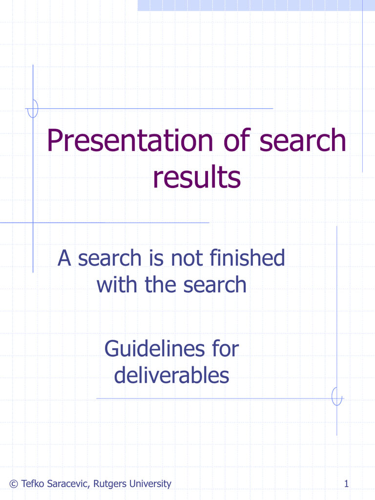 Presentation Of Search Results.ppt for Rutgers Powerpoint Template