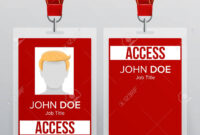 Press Pass Id Card Vector. Plastic Badge Template To Business.. throughout Conference Id Card Template