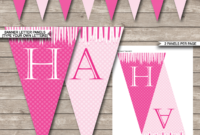 Princess Party Banner Template – Pink regarding Diy Party Banner Template