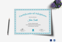Printable Adoption Certificate Template With Regard To Blank Adoption Certificate Template