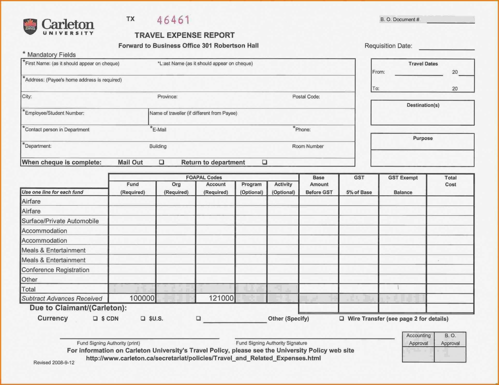 Printable Air Balance Report Form Mersnproforum Form Regarding Air Balance Report Template