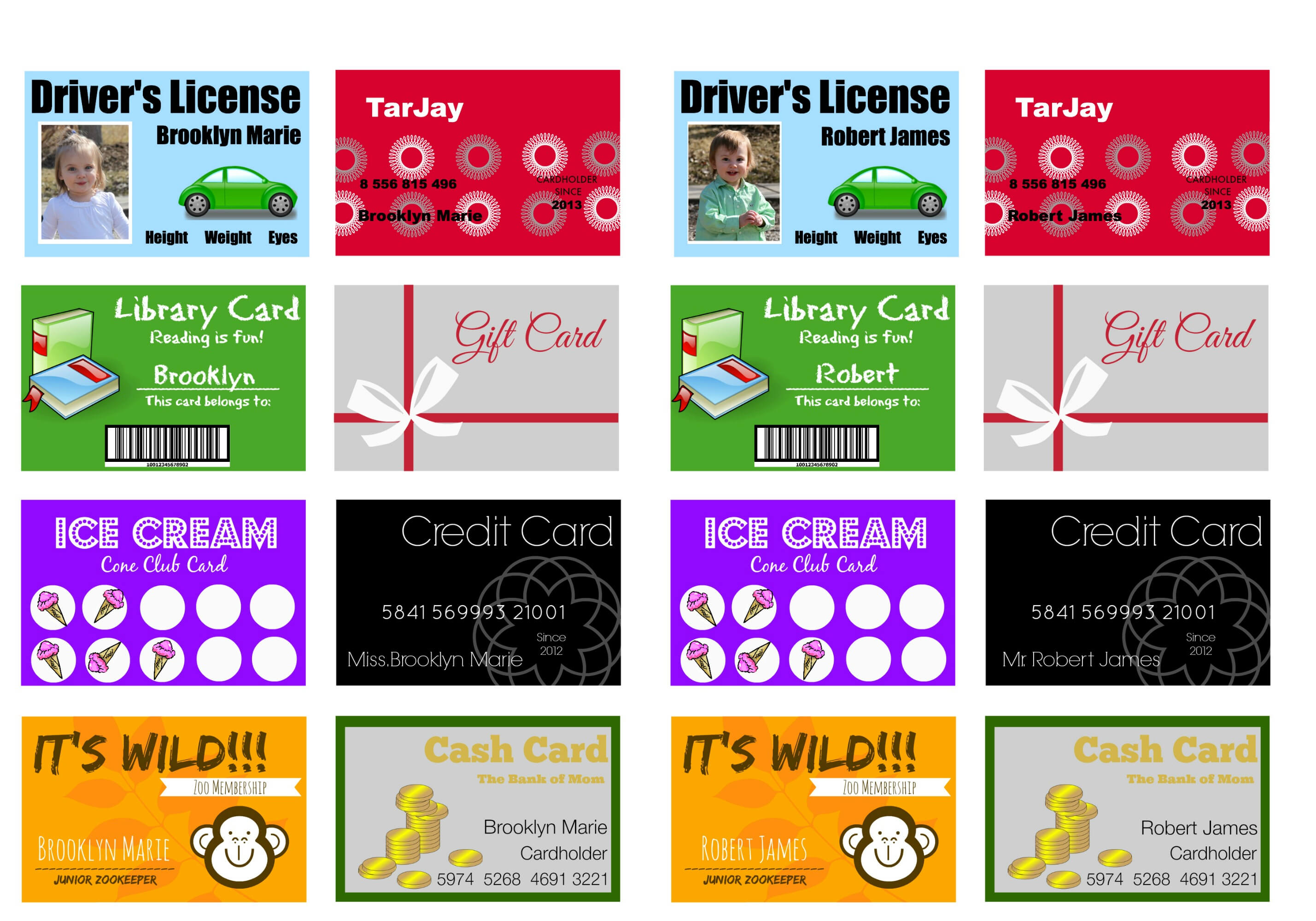 Printable (And Customizable) Play Credit Cards - The Crazy With Credit Card Template For Kids