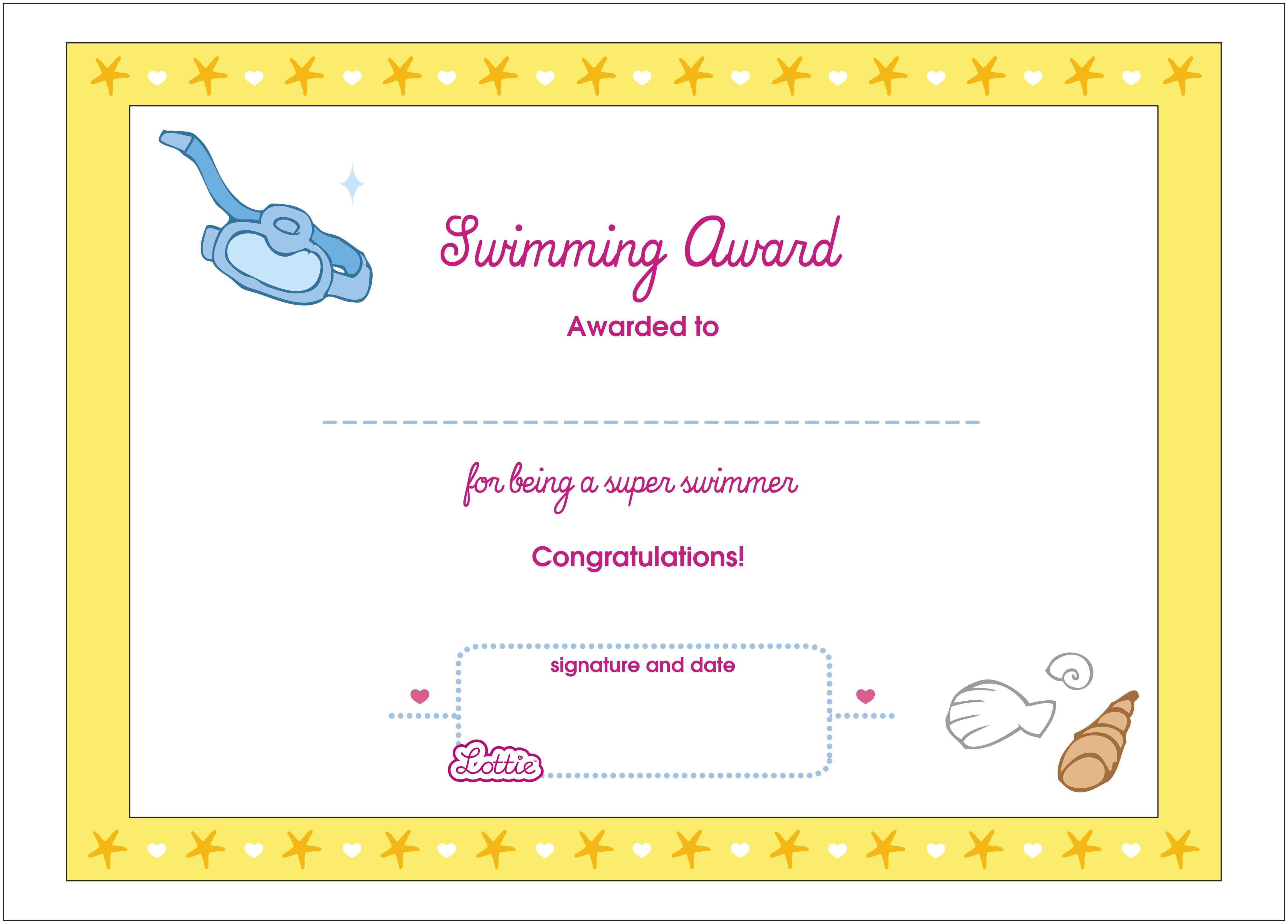 Printable Award Certificates – Bluedotsheet.co with regard to Free Swimming Certificate Templates
