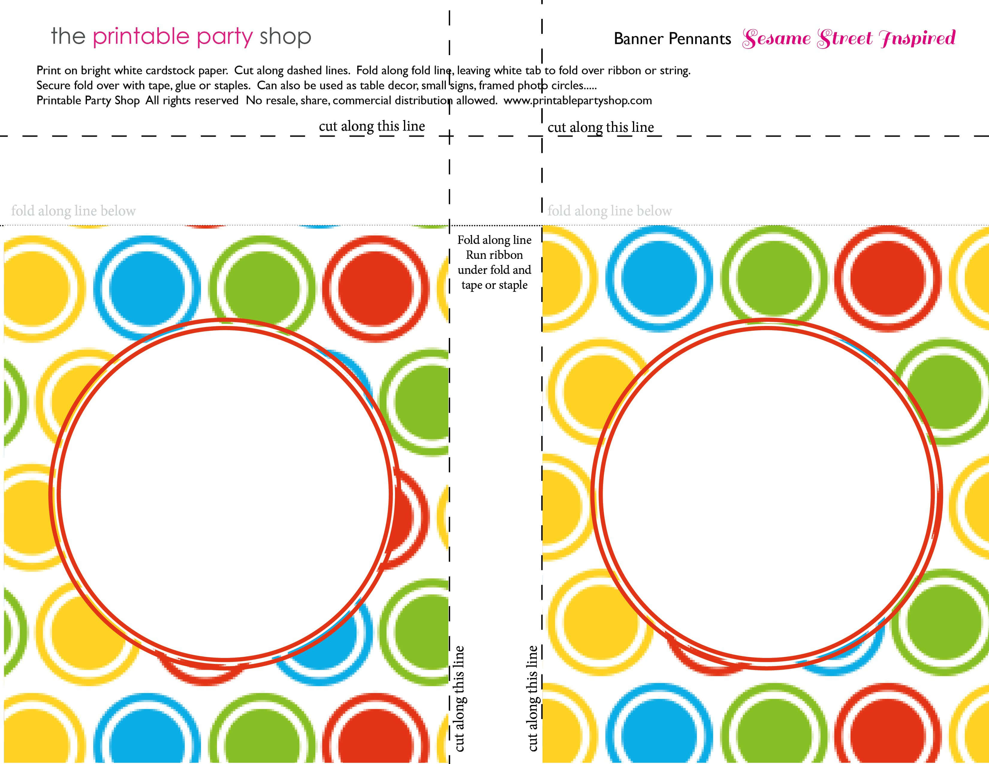 Printable Banners Templates Free | Banner Squares Big Dots In Staples Banner Template
