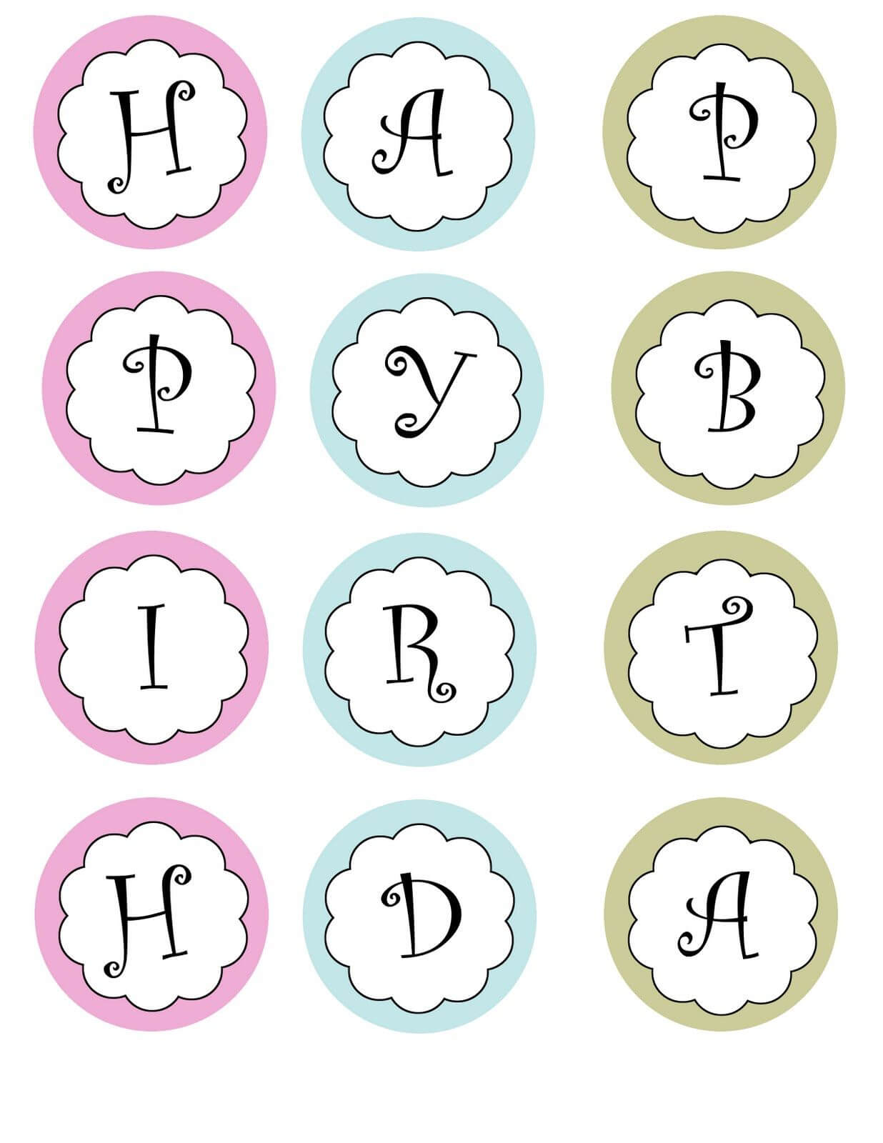 Printable Banners Templates Free | Print Your Own Birthday with regard to Letter Templates For Banners