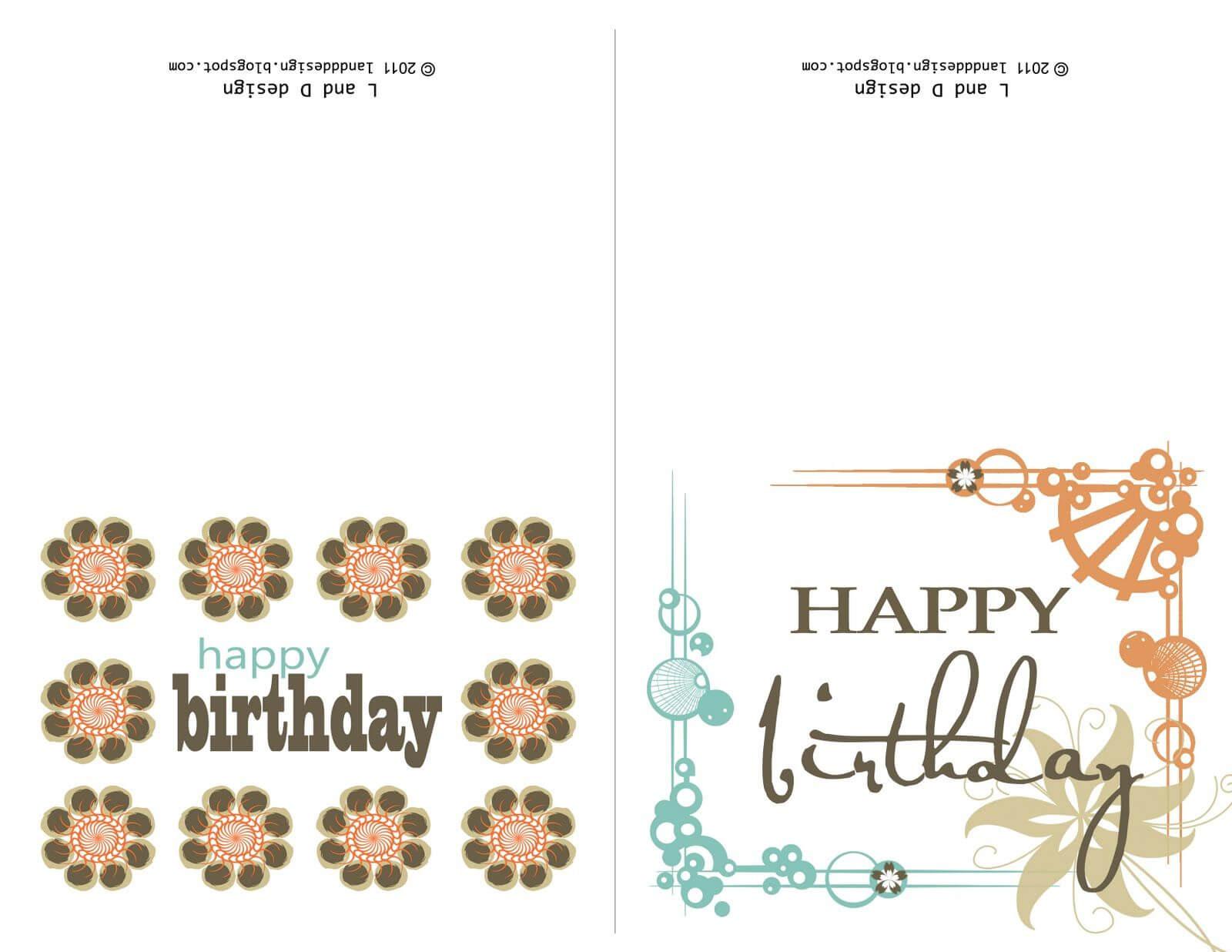 Printable Birthday Cards For Mom   Free Birthday Card Throughout Mom Birthday Card Template