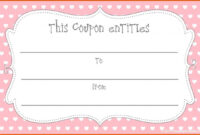 Printable Blank Coupons Template | <3 | Voucher Template regarding Blank Coupon Template Printable