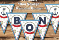 "Printable ""bon Voyage"" Banner 
