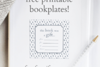 Printable Bookplates For Donated Books | Book Gifts, Book Pertaining To Bookplate Templates For Word