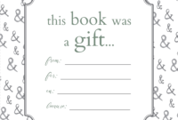Printable Bookplates For Donated Books | Labels For Book Throughout Bookplate Templates For Word