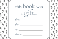 Printable Bookplates For Donated Books | Printables Regarding Bookplate Templates For Word