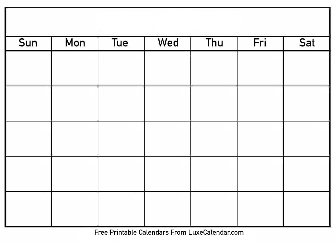 Printable Calendar Templates Full Page - Calendar within Full Page Blank Calendar Template