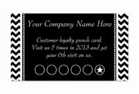 Printable Card Template Of Business Punch Card Template Free for Business Punch Card Template Free