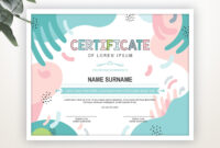 Printable Certificate Template, Editable Certificate intended for Swimming Certificate Templates Free