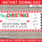 Printable Christmas Gift Concert Ticket Template   Gift Inside Movie Gift Certificate Template
