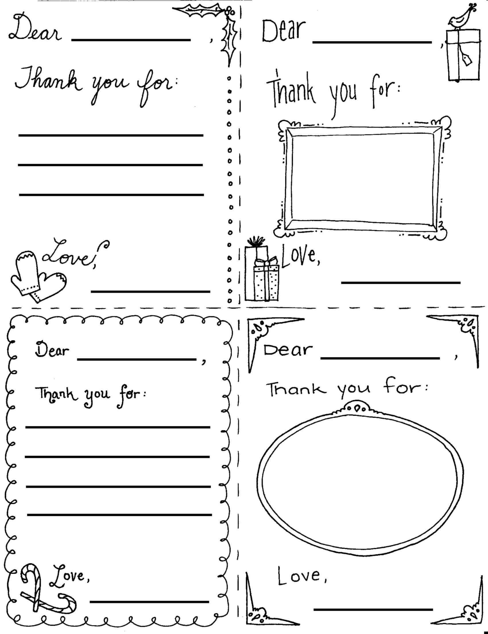 "Printable Christmas ""thank You"" Cards For Children | Thank intended for Christmas Thank You Card Templates Free"