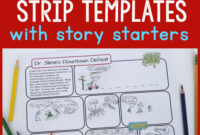 Printable Comic Strip Templates With Story Starters – Frugal for Printable Blank Comic Strip Template For Kids