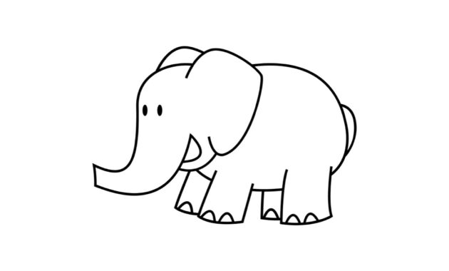 Printable Elephant Templates / Elephant Shapes For Kids throughout Blank Elephant Template