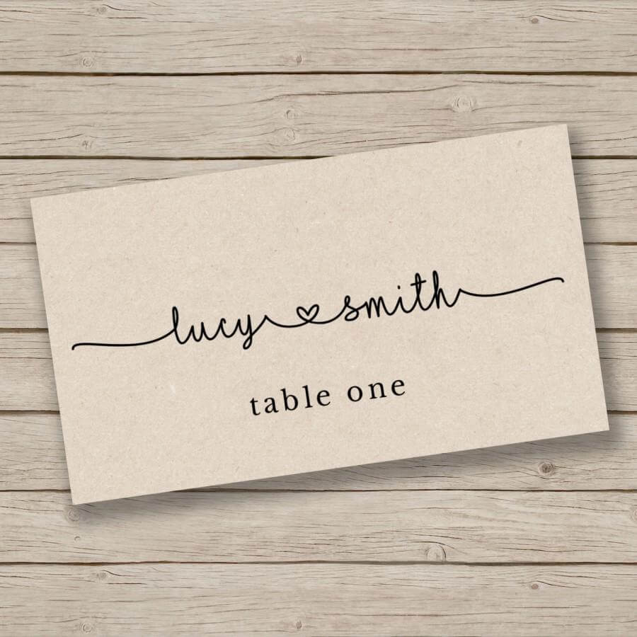 Printable Escort Card Template - Place Card Template - Tent with Ms Word Place Card Template